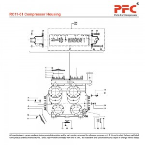 Compressor Housing - Grasso RC11 Parts