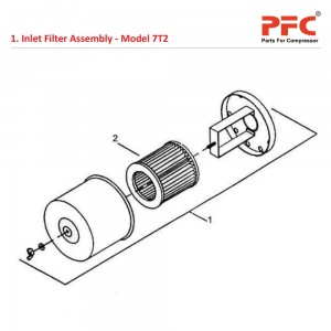 Inlet Filter Assembly For 7T2