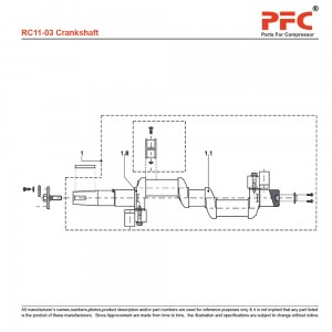 Crankshaft - Grasso RC11 Compressor Parts