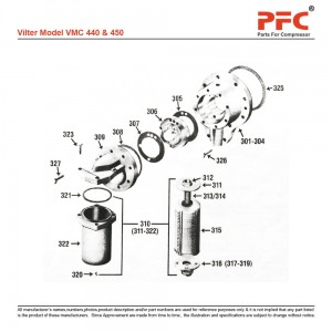 Vilter 450 Refrigeration Compressor Parts