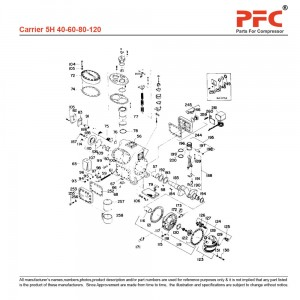 Carrier 5H Refrigeration Compressor Parts