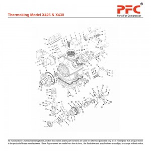 Thermoking X430 Refrigeration Compressor Parts
