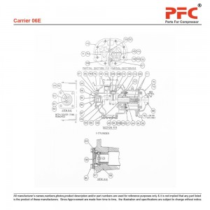 Carrier 06E Refrigeration Compressor Parts