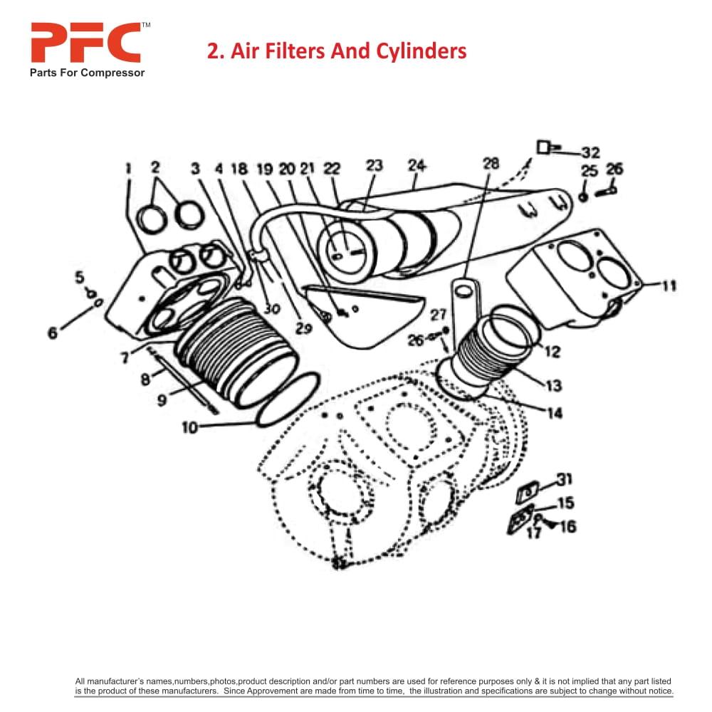 vilter compressor parts: head lp 1614030202 replacement